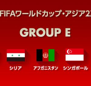2018年ロシアワールドカップ アジア2次予選 対戦国と試合日程まとめ