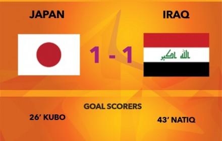 【速報・動画】イラク戦、前半終了1-1!久保のゴールで先制も終了間際に追いつかれる。Twitterの反応